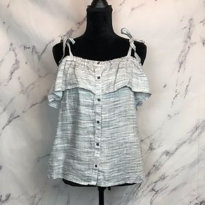 Lucky Brand Off the Shoulder Ruffle Top